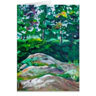 Cartão Rochas e árvores