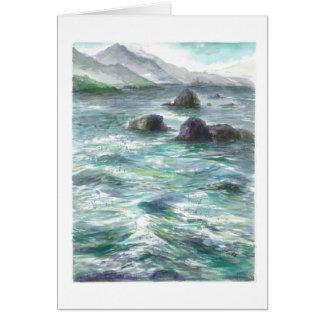 Cartão Rochas no oceano de Oregon