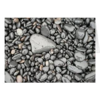 Cartão Rochas, praia preta da areia, Islândia