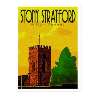 Cartão rochoso do vintage de Stratford