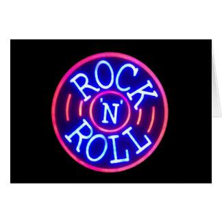Cartão Rock and roll