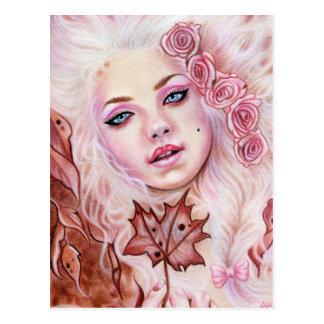 Cartão Rococo da beleza