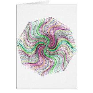 Cartão Roda colorida do redemoinho de prisma do arco-íris