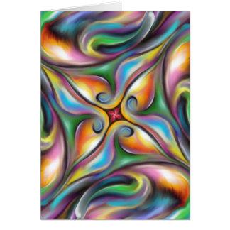 Cartão Roda colorida transições macia misturadas da