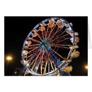 Cartão Roda de Ferris de néon