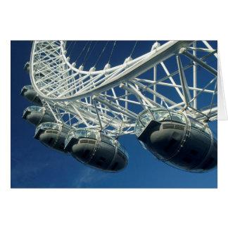 Cartão Roda de Ferris do olho de Londres