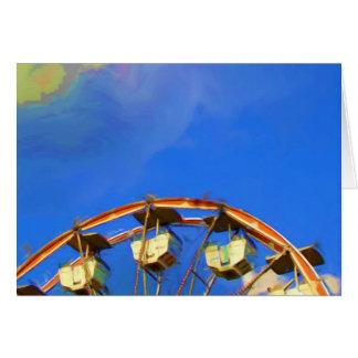 Cartão Roda de Ferris justa do estado, Indianapolis,