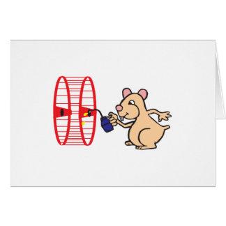 Cartão roda de lubrificação do hamster parvo