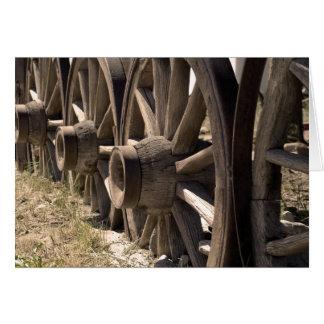 Cartão Rodas de vagão do Sepia