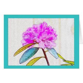 Cartão Rododendro brilhante em cores elétricas!