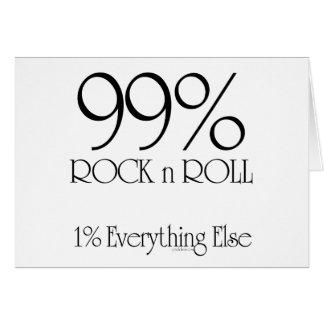 Cartão Rolo da rocha n de 99%