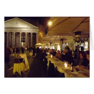 Cartão Roma, Italia na noite