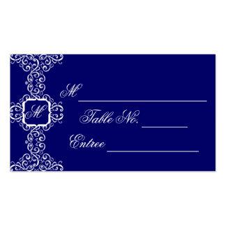 Cartão romance branco do lugar do monograma cartão de visita
