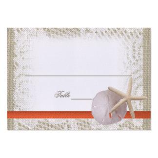 Cartão romance do lugar do oceano cartão de visita