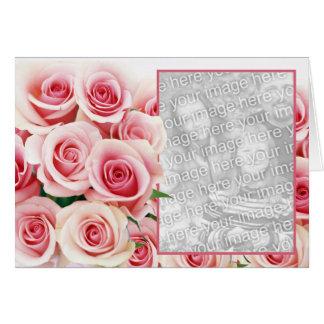 Cartão Romance do rosa do rosa - modelo