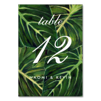 Cartão Romance tropical/mesa não