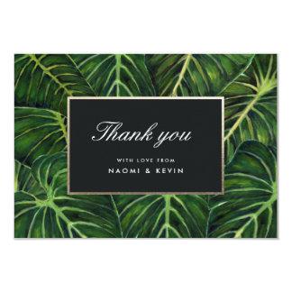 Cartão Romance tropical/obrigado você