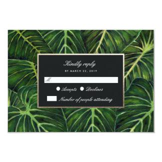Cartão Romance tropical/RSVP