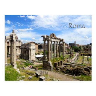 Cartão romano do fórum cartão postal