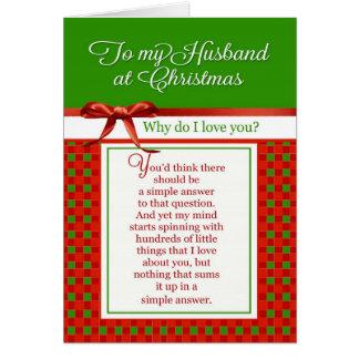 Cartão Romântico - a meu marido no Natal