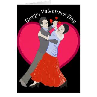 Cartão Romântico amadureça a dança de salão de baile do