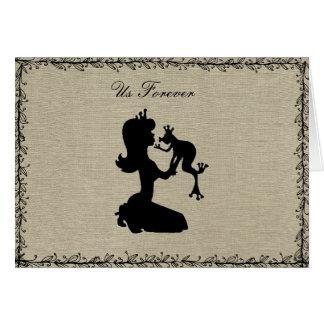 Cartão romântico da princesa Sapo do amor