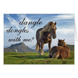 cartão romântico da proposição