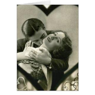 Cartão Romântico dentro de um coração