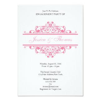 Cartão romântico do convite da festa de noivado