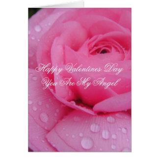 Cartão romântico do dia dos namorados do anjo do