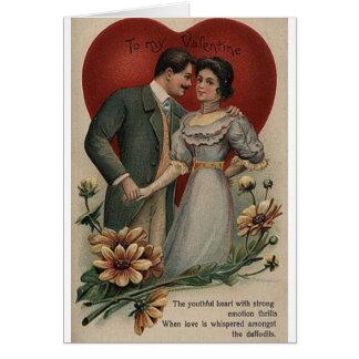 Cartão romântico do dia dos namorados do Victorian