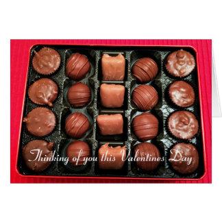 Cartão romântico do dia dos namorados dos doces