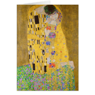 Cartão Romântico o beijo que pinta Gustavo Klimt