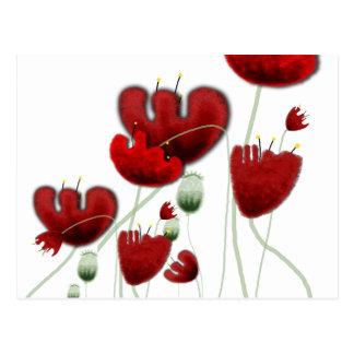 Cartão romântico vermelho do dolce da paisagem da