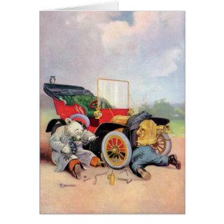 Cartão Roosevelt carrega mecânicos de carro