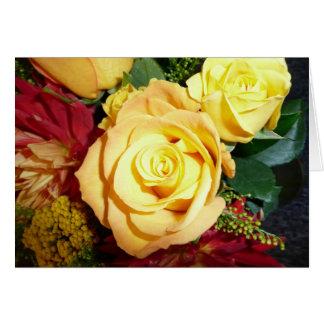 Cartão Rosa amarelo