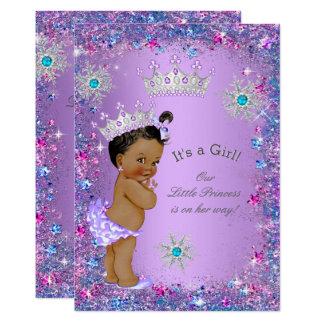 Cartão Rosa azul da cerceta roxa étnica da princesa chá