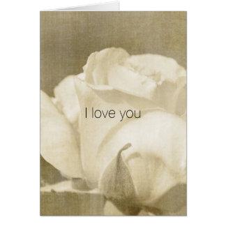 Cartão Rosa branco