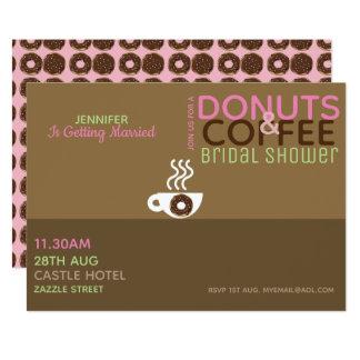 Cartão Rosa Choc do chá de panela das ROSQUINHAS do CAFÉ