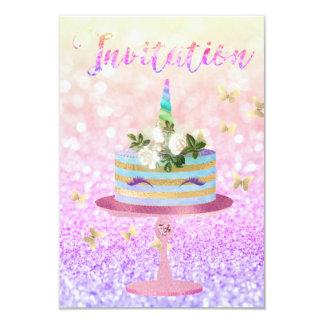 Cartão Rosa cor-de-rosa de Ombre do brilho do ouro do