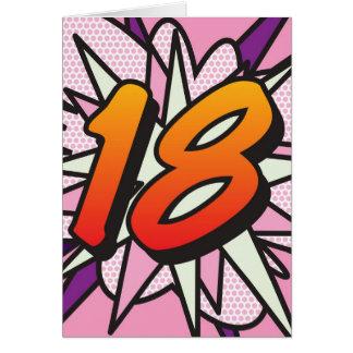 Cartão Rosa da banda desenhada 18