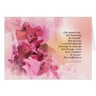 Cartão Rosa da cerca 3 do marmelo da oração da serenidade