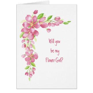 Cartão Rosa da flor de cerejeira do florista do casamento