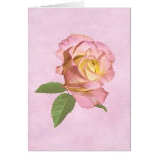 Cartão Rosa da paz customizável