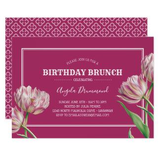 Cartão Rosa da refeição matinal do aniversário da flor da