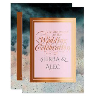 Cartão Rosa de cobre e tempestade