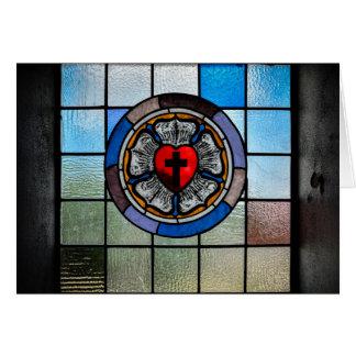 Cartão - rosa de Luther