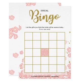 Cartão Rosa do Bingo | do chá de panela e brilho do ouro