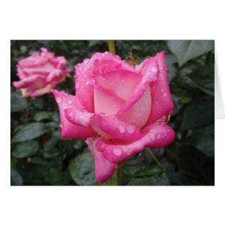 Cartão Rosa do rosa do 2-Tom