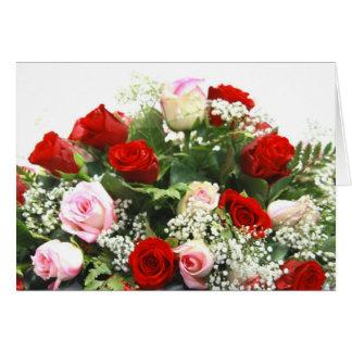 Cartão Rosa e rosas vermelhas